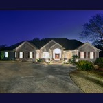 front of the manor house real estate photography