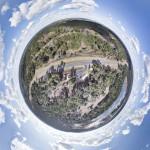 tiny planet sky earth