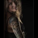 Portrait of a tattoo woman